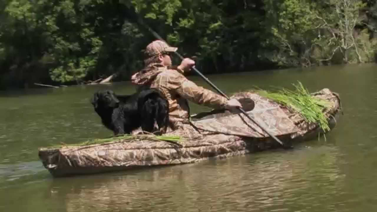 watch blind canoe from gopro blinds youtube duck hunting