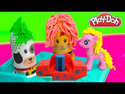 Playdoh Fuzzy Pet Salon Cat Puppy Dog  Hair Play Playset Play-doh POP Pinkie Pie MLP Cookieswirlc