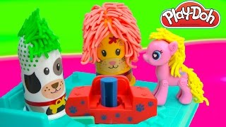 Playdoh Fuzzy Pet Salon Cat Puppy Dog  Hair Play Playset Play-doh POP Pinkie Pie MLP Cookieswirlc