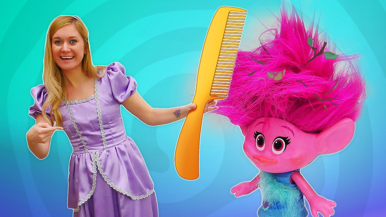 Disney princess & New hairstyle and makeup for Trolls toys.