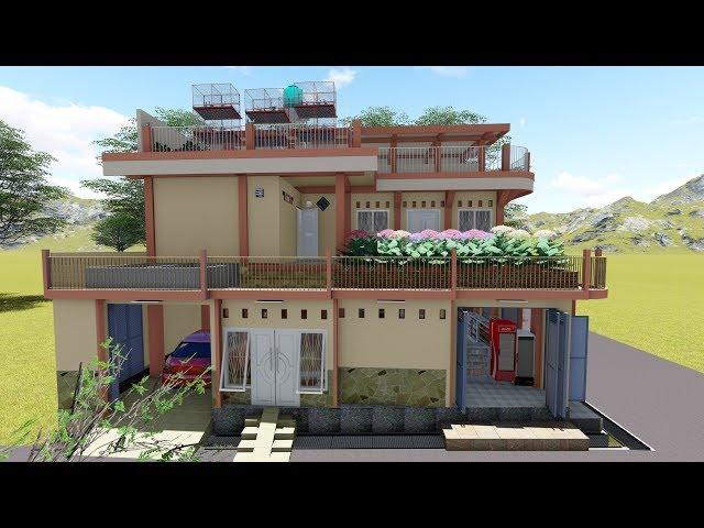 Rumah 2 Lantai +, di Lahan 9,6 x 14