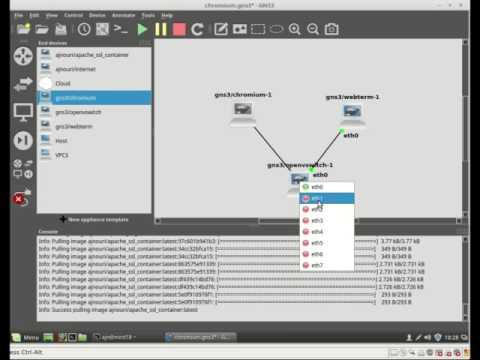 GNS3 docker hotlink