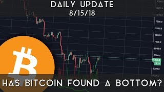 Daily Update (8/15/18) | Has bitcoin found its bottom?