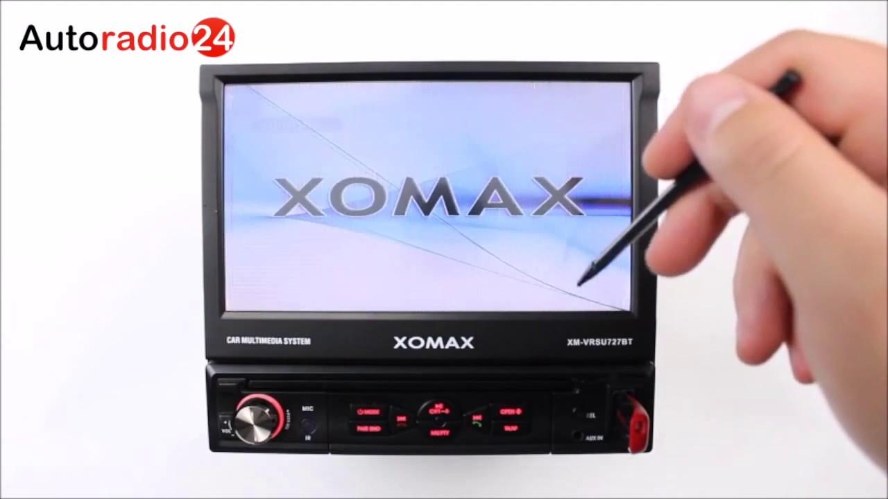 Xomax XM-VRSU727BT Autoradio carradio USB touchscreen MP3 Radio ...