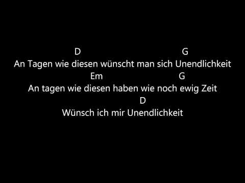 Die Toten Hosen - Tage Wie Diese Lyrics - Guitar Chords - Metronome 97bpm