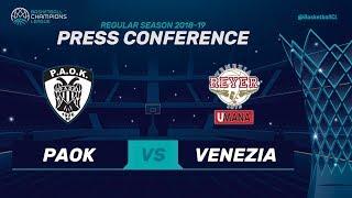 PAOK v Umana Reyer Venezia - Press Conference - Basketball Champions League