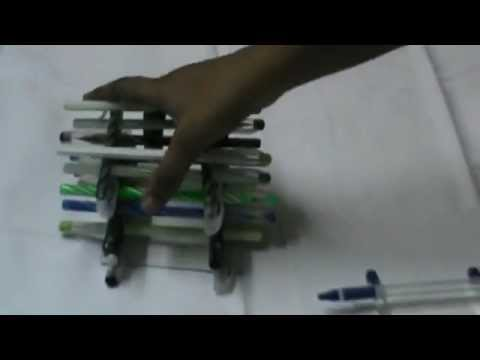 Nikshiptam useful things from waste making of pen stand for Waste things uses