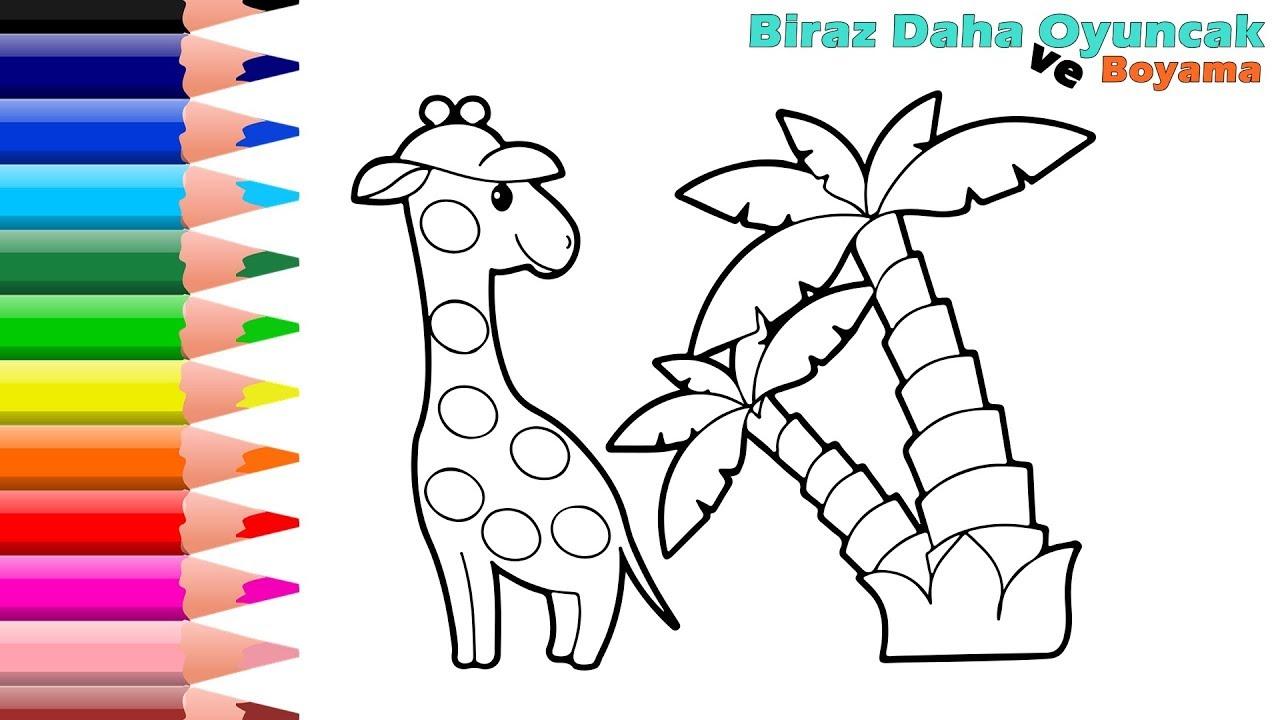 Zürafa Boyama çocuklar Için Boyama Videoları Boyama Oyunları