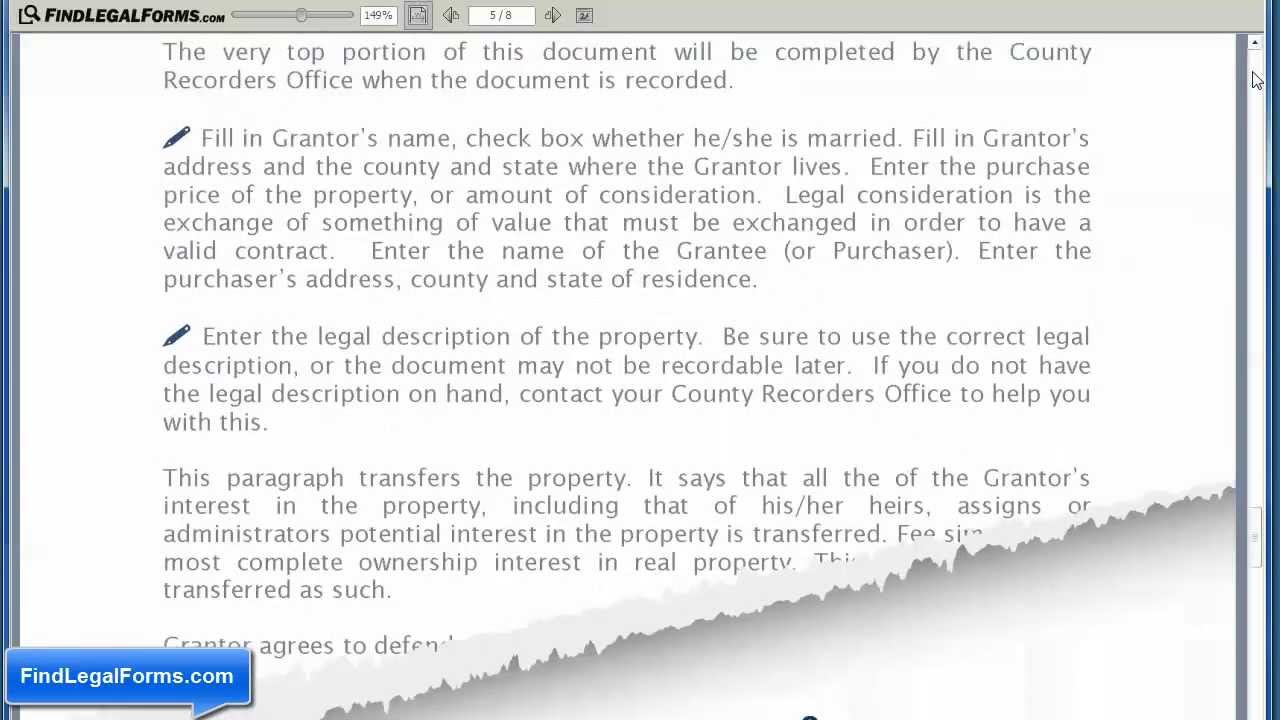 General Warranty Deed YouTube – General Warranty Deed