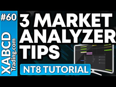 3 Market Analyzer Tips for NinjaTrader 8
