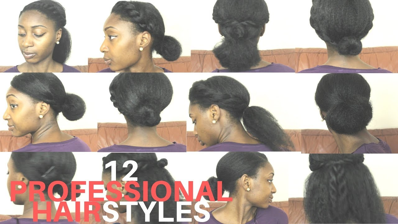 12 Quick Easy Back To Work Natural Hairstyles Adegail