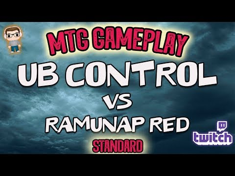 MTG Gameplay - UB Control Vs Ramunap Red - Standard Match