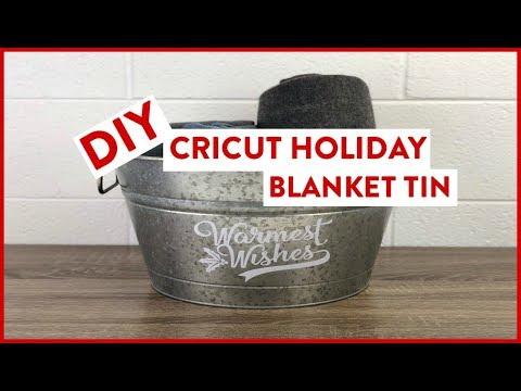 DIY Cricut Holiday Blanket Tin | SVG Holiday Project