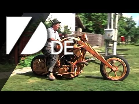 Ein Motorrad aus Holz - YouTube