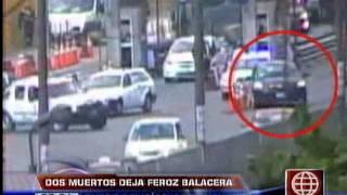 América Noticias - 041113 - Imágenes de la balacera en San Martín de Porres