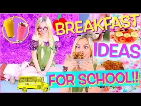 Easy & Healthy Back to School Breakfast Ideas!!