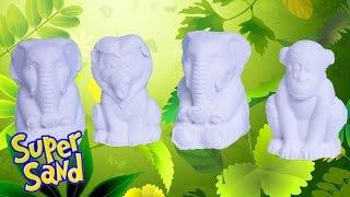 Super Sand Animals Playset SuperSand Modeling Sand La Arena Mágica Goliath Playsets Toys