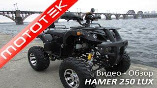 квадроцикл Hamer 250 Lux  Видео Обзор  Тест Драйв от Mototek