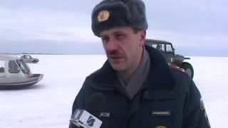 Великий Новгород Зимняя рыбалка 2007 Рейд МЧС.