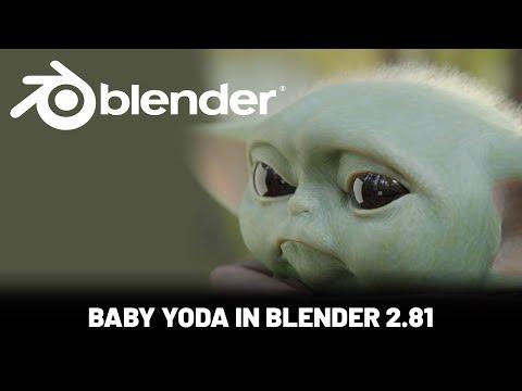 Blender Character Animation Tutorial: Baby Yoda thumbnail