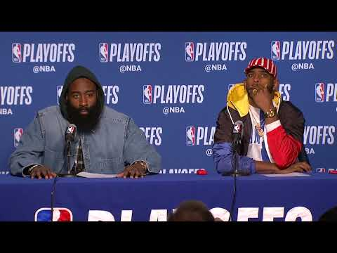 James Harden & Chris Paul Postgame Interview - Game 5 | Rock