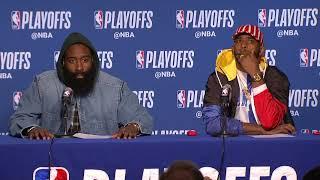 James Harden & Chris Paul Postgame Interview - Game 5 | Rockets vs Warriors | 2019 NBA Playoffs