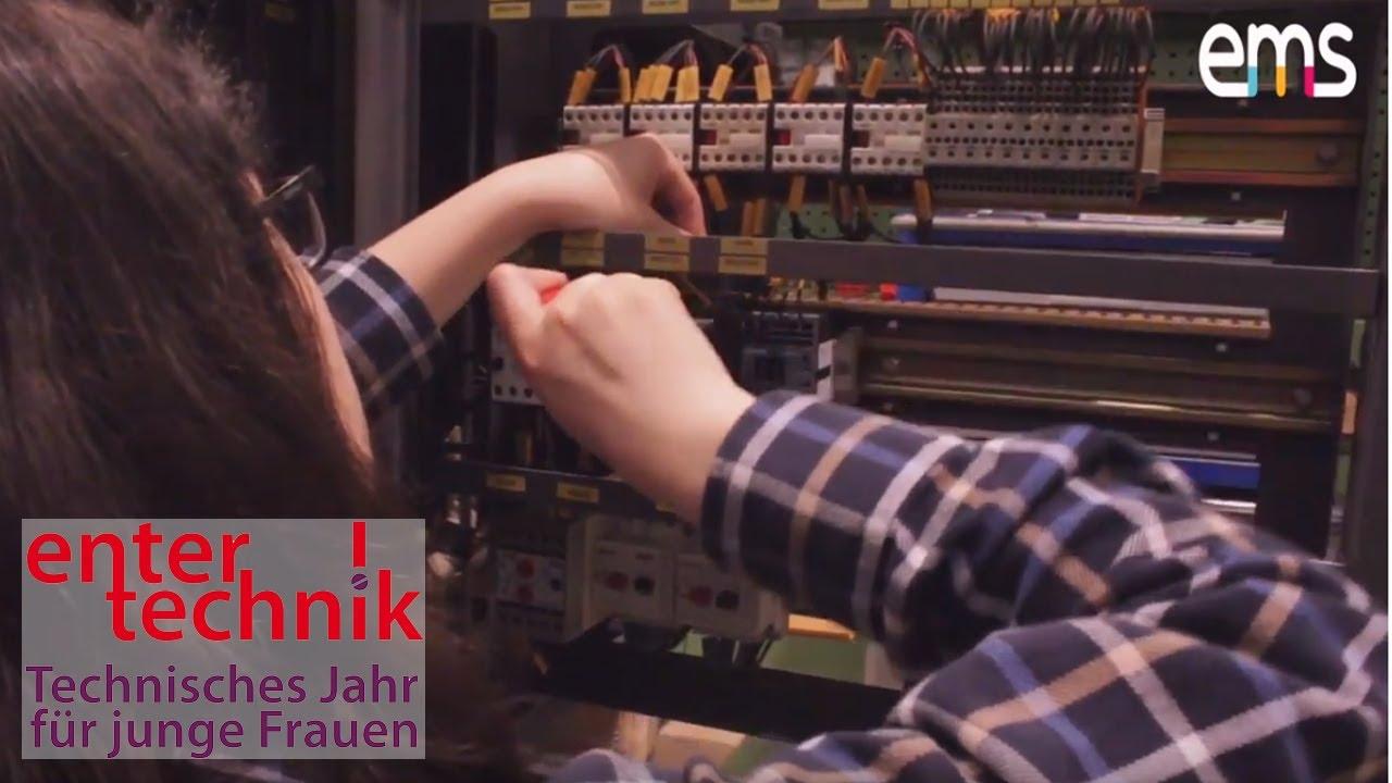 EnterTechnik - Praktikum in der U-Bahn Werkstatt der BVG Berlin im Technischen Jahr für junge Frauen