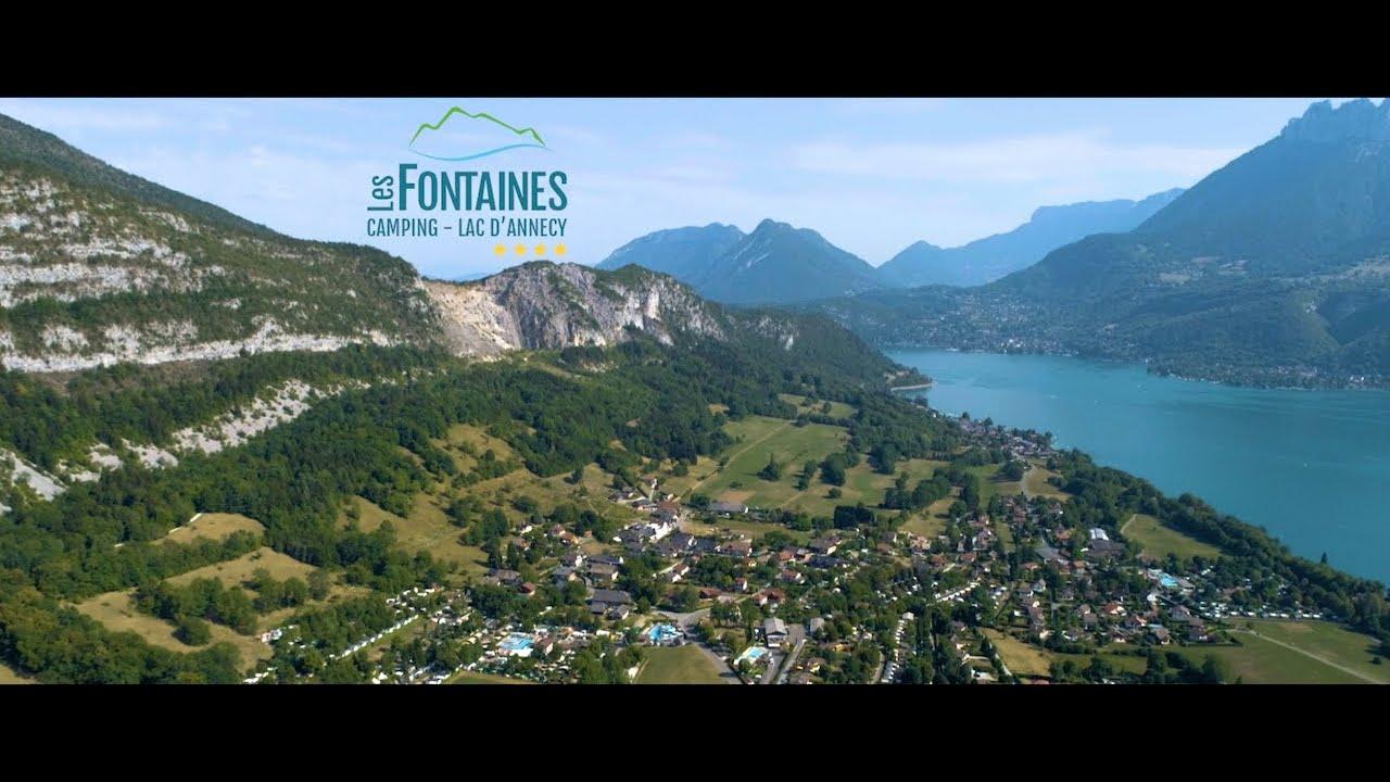 Camping Les Fontaines am See von Annecy in Hochsavoyen