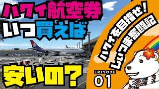 🌈【しぃつま奮闘記01】ハワイ航空券徹底リサーチ!!(関東圏)