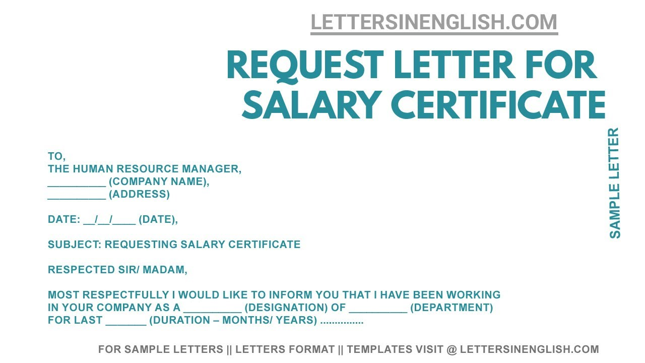 Salary Certificate Request Email, Jobs EcityWorks