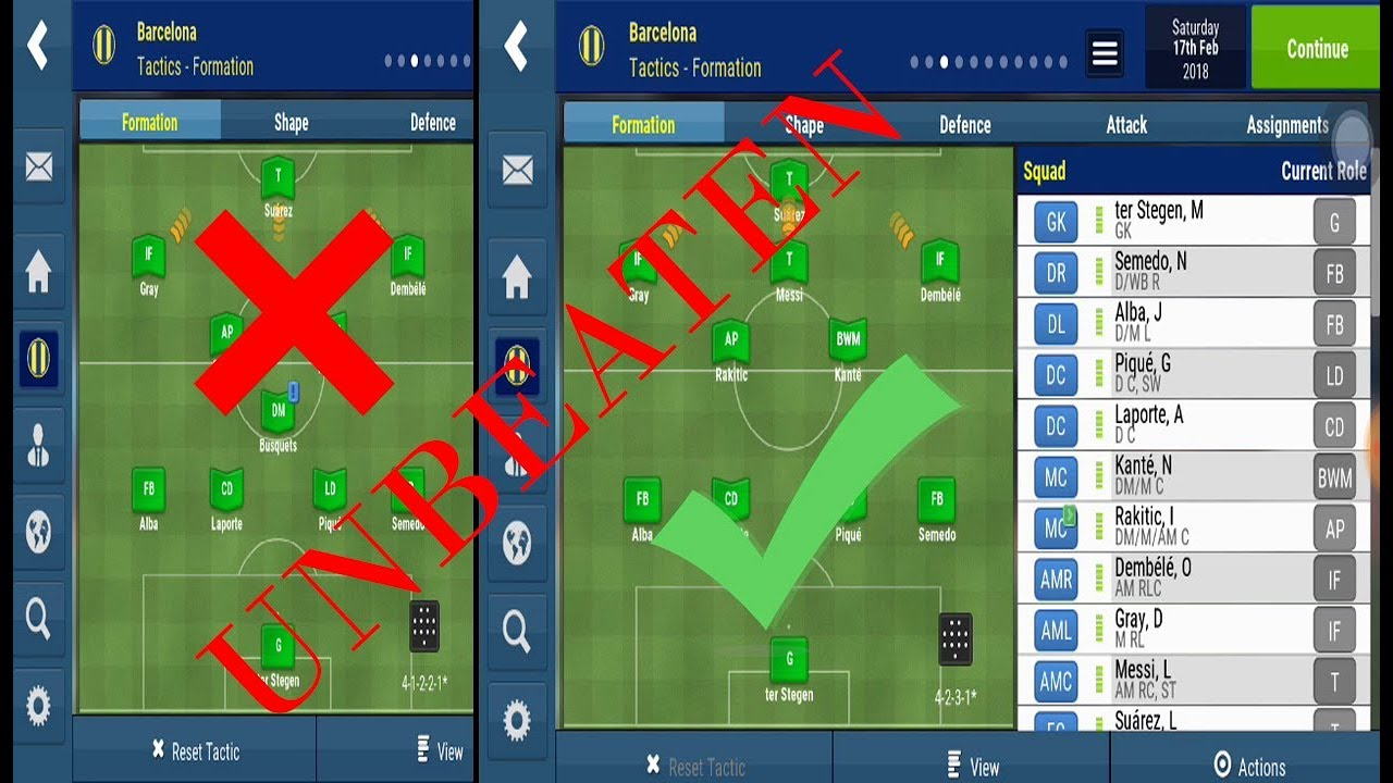 UNBEATEN FORMATION AND TACTICS With Barcelona On Football