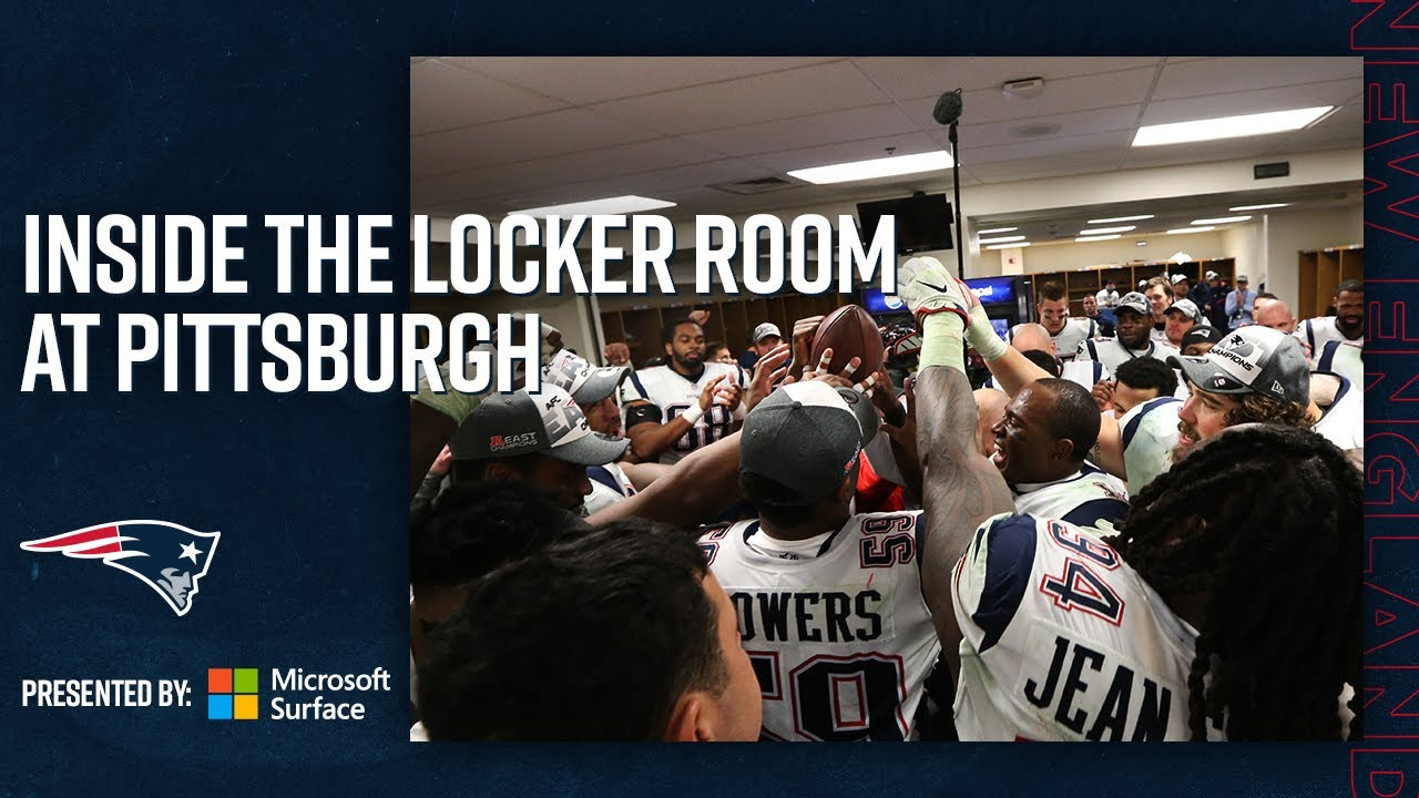 Inside The Locker Room After The Patriots Clinch The Afc