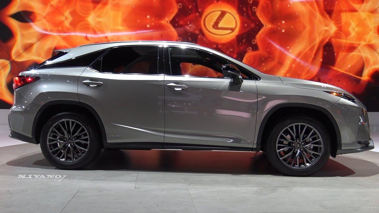 2018 Lexus Rx450h F Sport Exterior And Interior Walkaround La Auto Show 2017