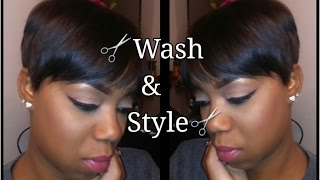 Washing & Styling Short Hair | Beginner Friendly