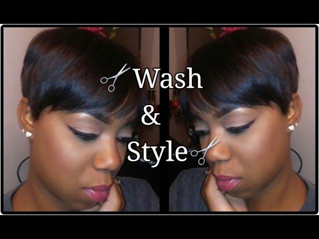 Washing Styling Short Hair Beginner Friendly Youtube