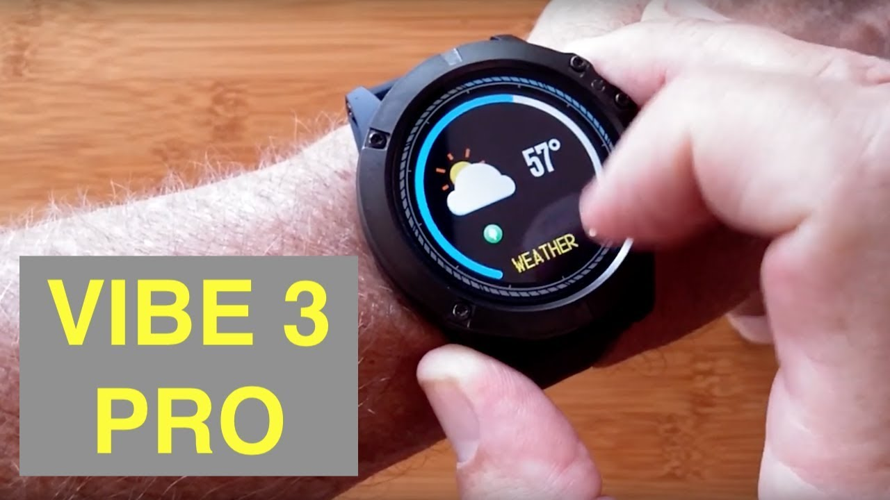 Zeblaze Vibe 3 Pro Full Round Touch Real Time Weather Optical Heart
