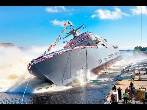 Future USS Wichita LCS 13 360 Degree Launch Video