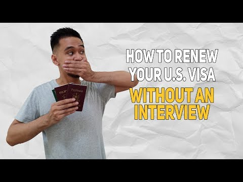 How To Renew Your Tourist US Visa Without An Interview In The Philippines | Bols Is Life