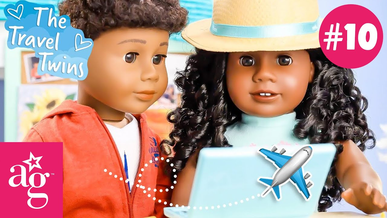 @American Girl Travel Twins The Most Epic Travel Vlog 🌍 | Stop Motion Episode 10 | Travel Twins