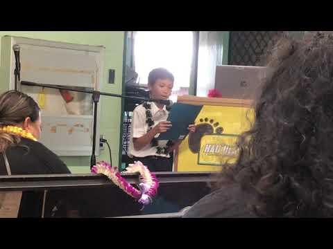 Jesse's graduation speech at Hauula Elementary School