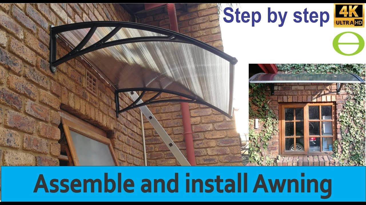 Download How to install a single plastic awning - step by step - two manufactures