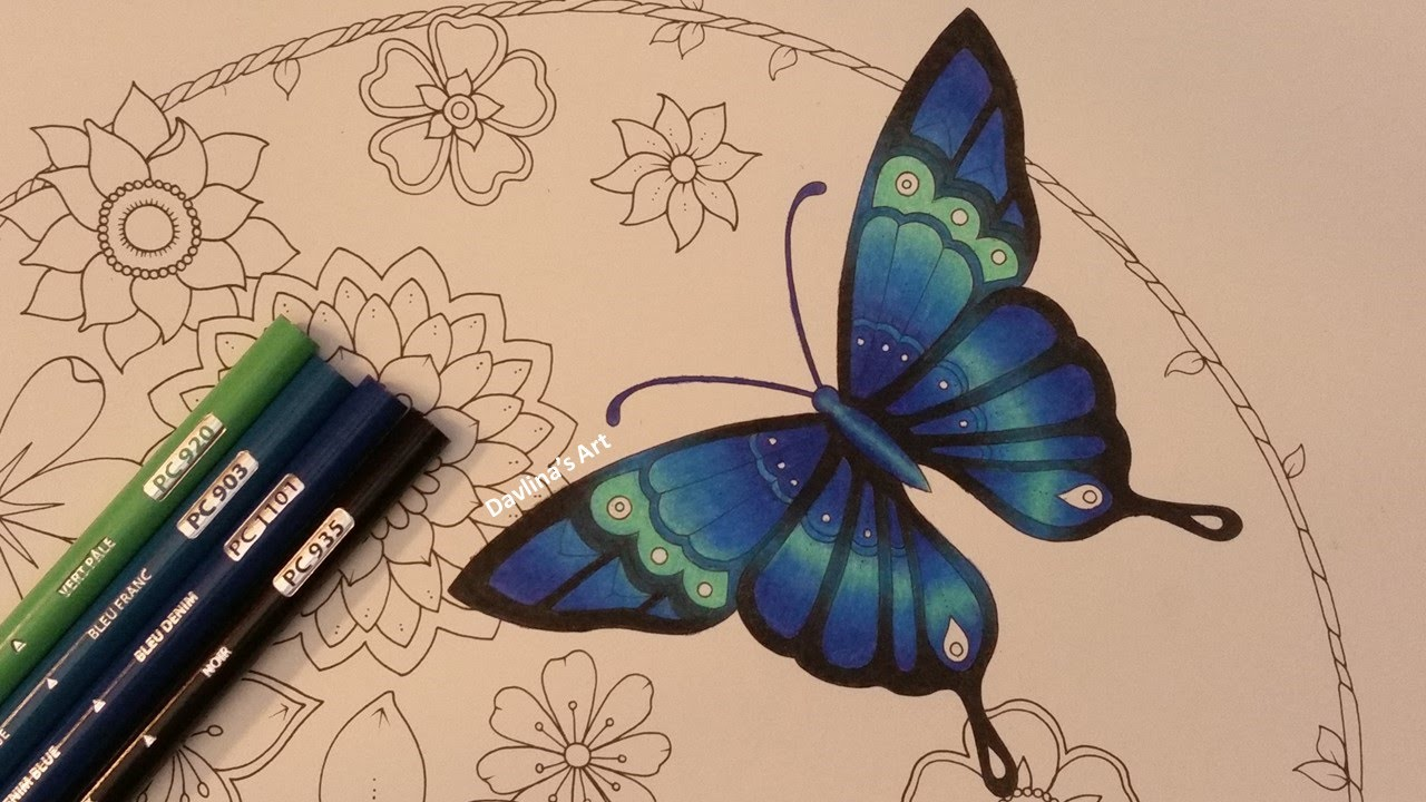 How I Color A Butterfly Magical Jungle By Johanna