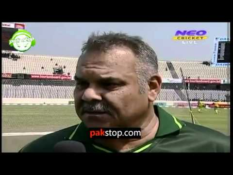 11th March, 2012  Pakistan's coach Dav whatmore Interview