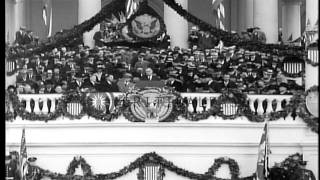 Franklin D Roosevelt addresses the nation after assuming the office of President ...HD Stock Footage