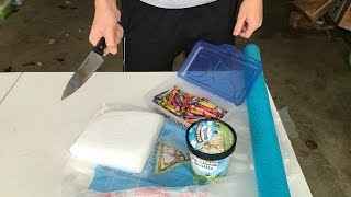 1000 DEGREE KNIFE VS DRY ICE! (ICE CREAM, CRAYONS, POOL NOODLE)