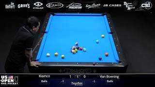 VAN BOENING PUSHED TO THE LIMIT! Van Boening vs Warren Kiamco 2019 US Open One Pocket Championship