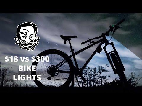 MTB Lights for Night Riding - $300 vs $18