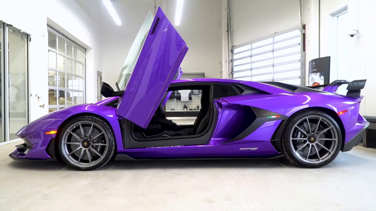 Purple Lamborghini Aventador Svj Youtube