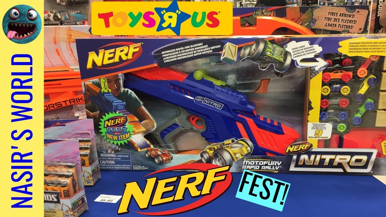 Toys R Us Nerf Guns : Nerf fest toys r us guns nitro