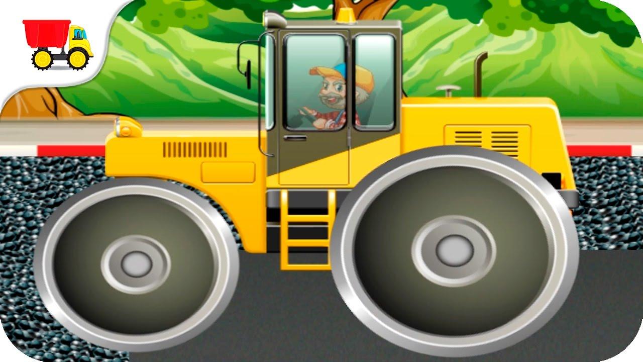 Digger Cartoons for Children - Backhoe, Excavator and ...